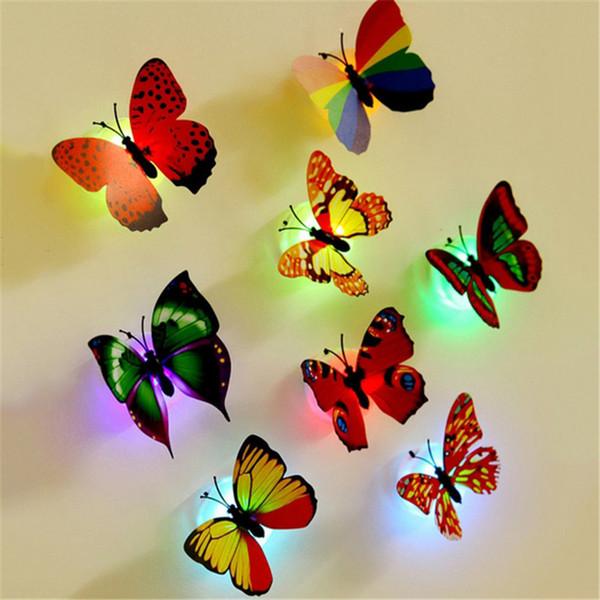MINOCOOL Künstliche Schmetterling Nachtlicht Home Party Schlafzimmer Hochzeitsdekoration Blinkende Spielzeug Wandaufkleber Kind Leuchten Spielzeug