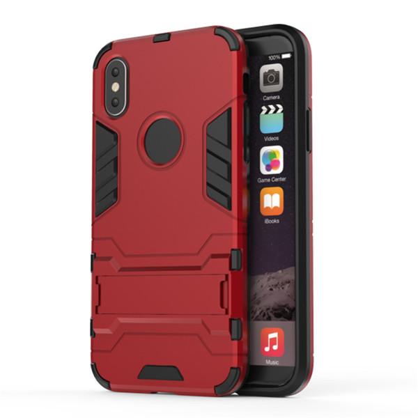 Neueste Ankunfts-Telefon-Kästen für IPhone X 8 7 Plus 6S unsichtbarer Klammertelefonkasten