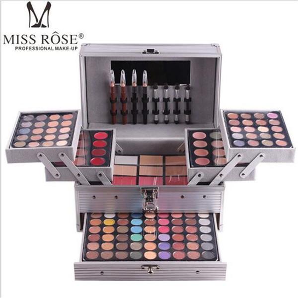 top popular MISS ROSE Professional Face Makeup Palette Sets matte&shimmer eyeshadow Concealer Brightening waterproof foundation makeup kit DHL free 2021