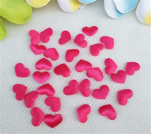 Hot Home Festive 100pcs Fabric Heart dia 3.2x3.2cm Wedding Party Confetti Table Decoration birthday party Decorative Supplies