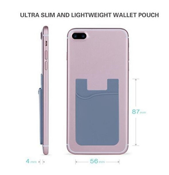 12d51de7a07 2019 Adhesive Silicone Phone Wallet Case With Snap Pocket Phone Back Stick  On Credit Card Holder With Stand For Smart Phone Random Color From Liaoyue,  ...