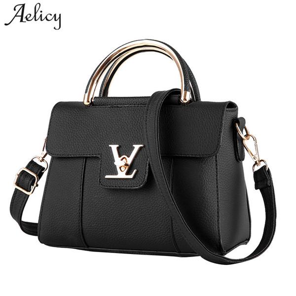 Aelicy Luxury 8 colores de cuero de las mujeres del bolso de embrague de cuero de la PU bolsos de las señoras diseñador de la marca de las mujeres bolsas de mensajero sac a main d18101005