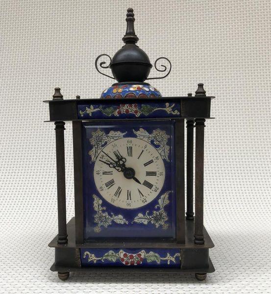 antiques brass cloisonne western clock continental home vintage decoration