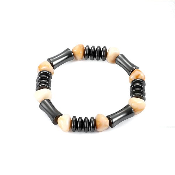 Fashion Hot Sale Hematite Slub Bead Bracelet Resin Stone Bracelet Bangle for Men Women Gift Jewelry Unisex Wholesale Accessories