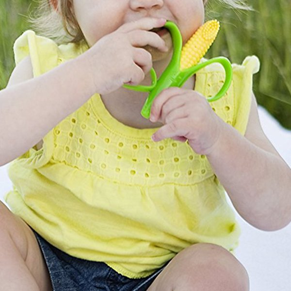 Silicone Baby Infants Teethers Banana Corn Baby Teethers Baby Teething Training Pacifier Chew Infant Oral Tooth Brush