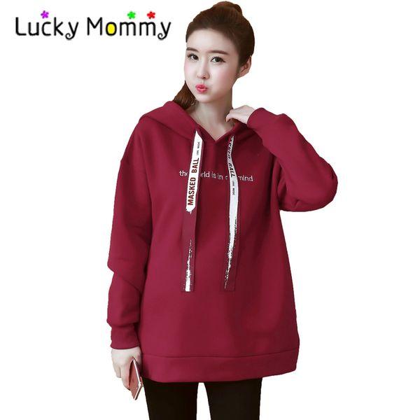 e0724e25064 Hot Sale Maternity Tops Hoodies Winter Warm Clothes for Pregnant Women Plus  Size Coat Female Hoodie