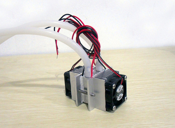 Freeshipping DIY kits Thermoelectric Peltier Refrigeration Cooling System Water cooling+ fan+ 2pcs TEC1-12706 Coolers