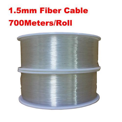 hot sale diameter 1.5mm 700m/roll PMMA fiber optic cable end glow Optic Fiber Lights for decoration lighting led fiber lights