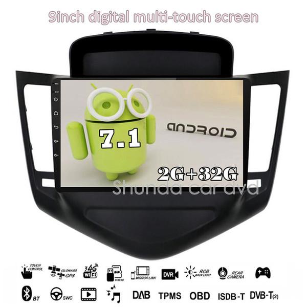 SHUNDA HD Android 7.1 T3 2G 16G RAM Car DVD player for Chevrolet Cruze 2011-2014 with 3G 4G Wifi GPS BT Navi Radio RDS SWC Map