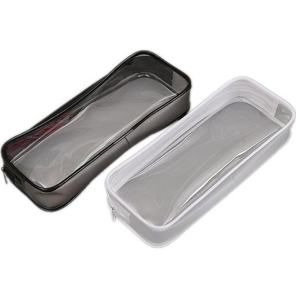 PVC Pencil Bag Zipper Pouch School Students Clear Transparent Waterproof Plastic PVC Storage Box Pen Case Mini Travel Makeup Bags Wholesale
