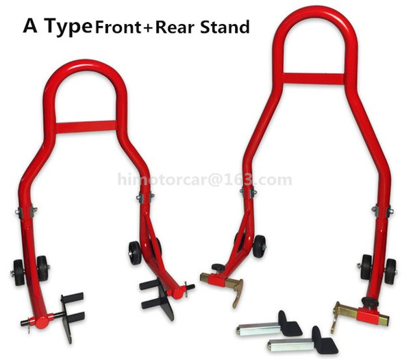 Full Set Motorcycle Front Wheel stand+ Rear Wheel Support Stand Heavy motorcycle lifting Support Frame Tire Repairing Tools