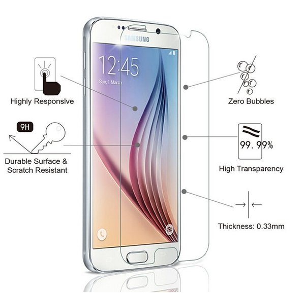 blueshine for SM-G920F Premium 2.5D 9H Tempered Glass Film for Samsung Galaxy S6 Protection decran verre trempe Garde for Samsung Galaxy S6