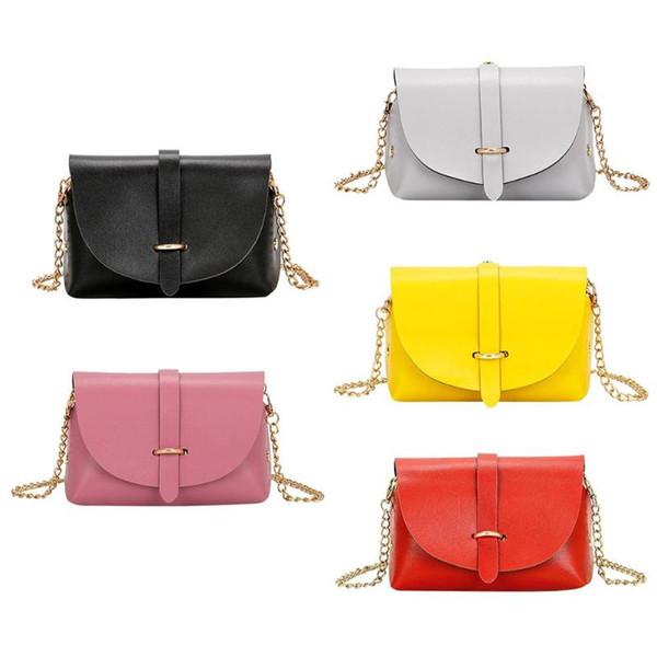 Kadınlar Için 2018 Sıcak Crossbody Çanta Gündelik Mini Şeker Renk Messenger Çanta Kızlar Için Flap Pu Deri Omuz Çantaları bolsos