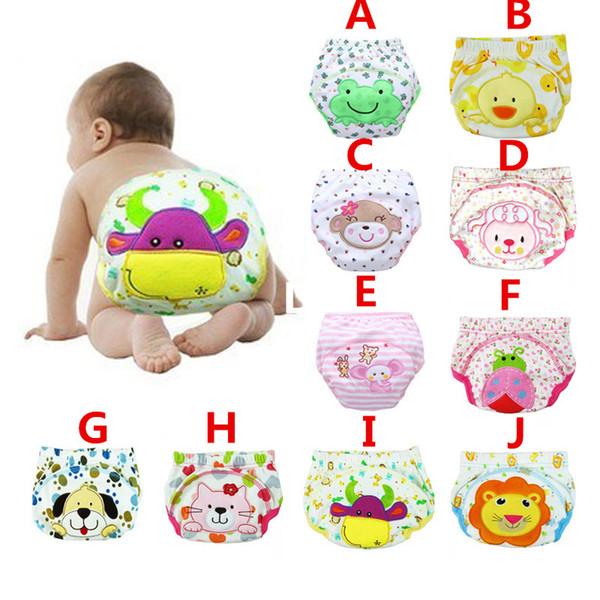 3 Layers Cartoon Baby Training Pants Waterproof Diaper Pant Potty Toddler Panties Newborn Underwear Reusable Training Pants 12 Designs