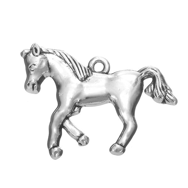 lemegeton 5pcs Bulk Wholesale Antique Silver Plating Horse Jewelry Animal Charms Suppliers New Design Newest Hotselling Dropshipping