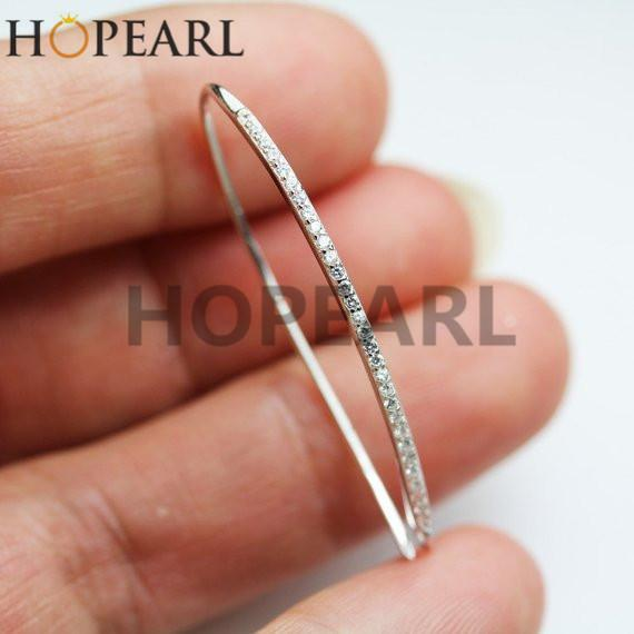 earring blank without pearl findings earwire cubic zirconia 925 sterling silver diy earring hook 37mm long