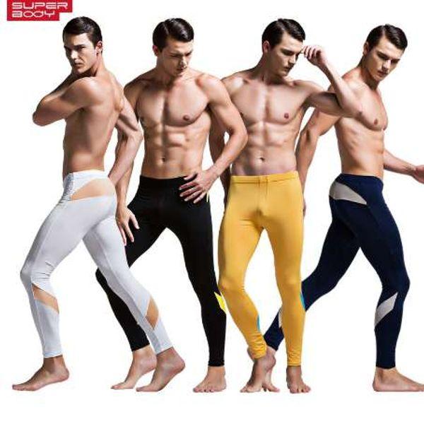 Intimo termico Bottom Moda uomo Caldo Long Johns Legging pantaloni attillati Pantaloni Render Underpants Uomo Fine velluto invernale