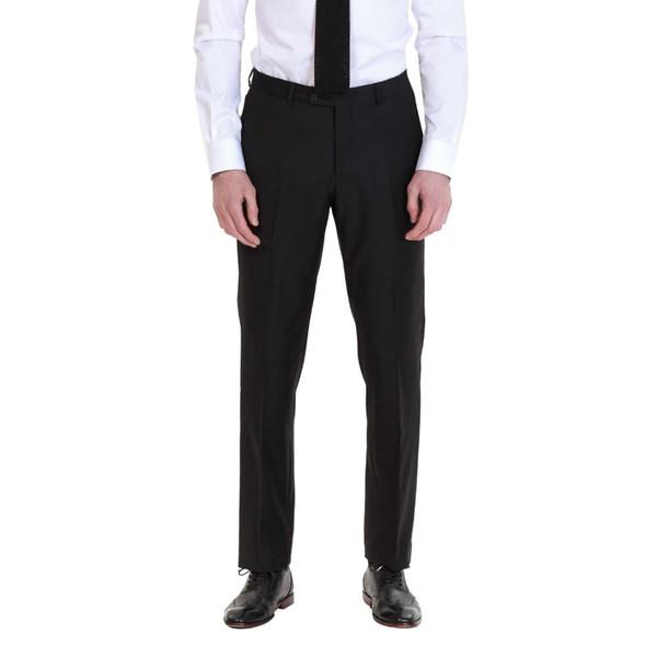 Moda Casual dos homens Slim Fit Calças Escritório Liso Calças Dos Homens Negros de Alta Qualidade Bens Para O Casamento Ou Qualquer Partido Masculino Calças