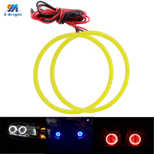 COB Angel Eyes 80MM 2Pieces(1pair) Auto Halo Rings 63 SMD COB 8cm Angel Eye Car Headlight Motorcycle White 12V
