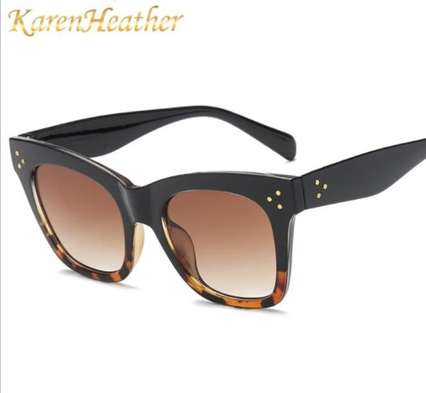 new sunglasses, european and american fashion, rice, nails, big frame, sunglasses, fashion, men and women, sunglasses.
