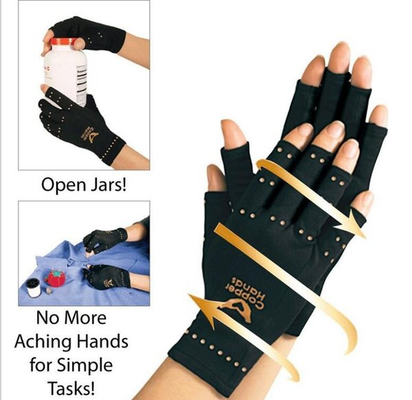 top popular Therapeutic Compression Copper Hands Arthritis Gloves Men Women Circulation Grip Ultra Light wrists fingers and hands protecter 2019