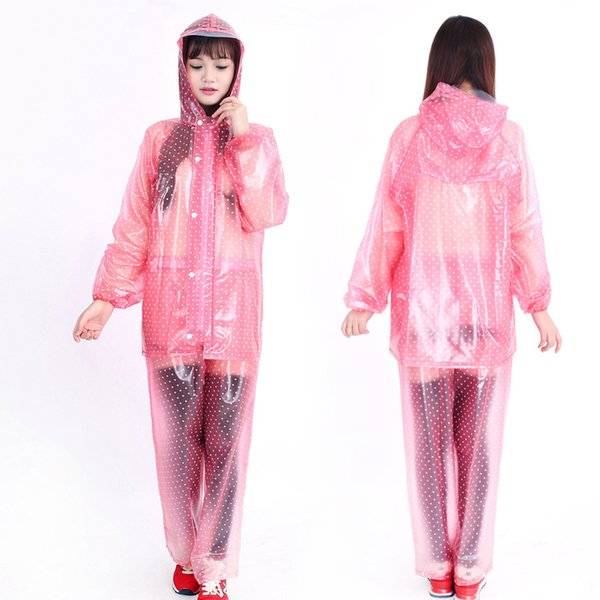 Poncho Rain Coat Transparent Raincoat Women Outdoor Rainwear For Chubasquero Wiche Layer Waterproof Raincoat Breathable DDG4Z0