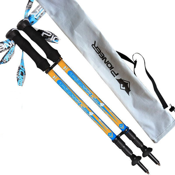 carbon fiber adjustable super short 55cm 3 sections lightweight 170g EVA handle retractable nordic walking sticks hiking pole C18110601