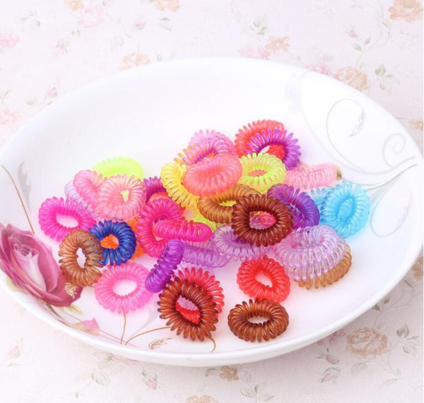 Koreans Style Telephone Cord Phone Plastic Headband Strap Scrunchy Rubber Hair Band Hair Rope Hair Accessory Headband