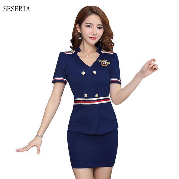 SESERIA Uniform Versuchung Sexy Stewardess Uniform Stewardess Kostüm