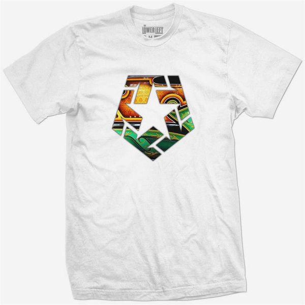 Casual T Shirt Male Pattern Tribal Gear original Patrones de CAMISETA T-SHIRT blanco blanco Short Sleeve Crew Neck Fashion