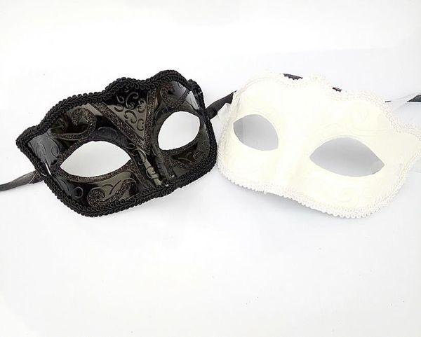 200pcs Black Venice Masks Masquerade Party Mask Regalo di Natale Mardi Gras Man Costume Sexy pizzo con frange Gilter Donna Dance Mask by DHL