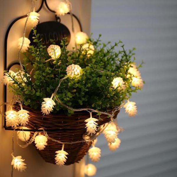 5m 40 Led New Year Products Pigna String Fairy Lights New Tree Garland Decorazioni per albero di Natale per la casa