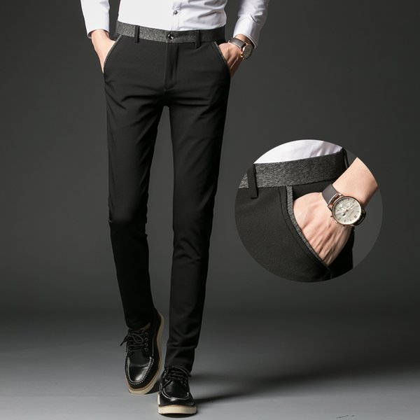 Men Dress Pants Fashion Mens Business Formal Suit Pants Slim Fit Design Men Trouser Party Dresses Office Trouser