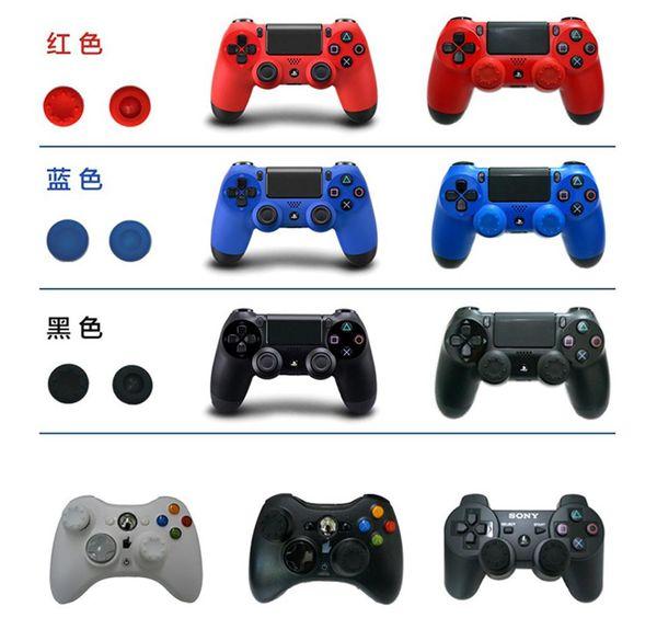 1000 adet / grup Denetleyici Analog Kavrama Başparmak Sticker Kapak Xbox one 360 PS4 için Kolu Cap için PS2 PS3 Başparmak Sopa Kap