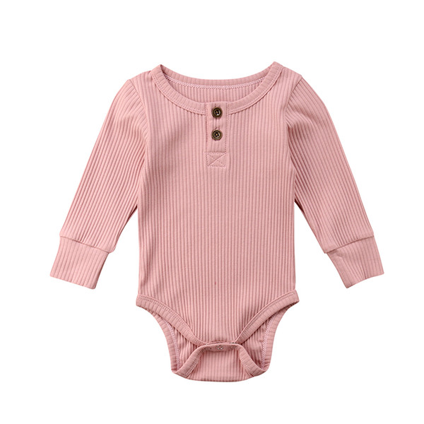 Newborn Infant Baby Boy Girls Bodysuit Long Sleeve Knitt Jumpsuit Playsuit Clothes Outfits Warm Autumn Winter 2018 Wholesale New