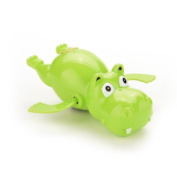 Belle enfant bébé enfant hippopotame jouets de natation en plastique Wind Up River Horse bain jouets jouets éducatifs