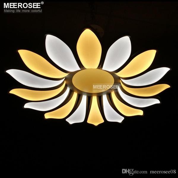 Große LED Kronleuchter Leuchte 16 Blütenblätter Blume Acryl LED Lampe Moderne Lüster lamparas de techo Licht Für Esszimmer Wohnzimmer