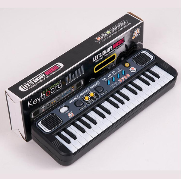 best selling Multifunctional Mini Electronic Piano with Microphone Plastic ABS Children Portable 37 Keys Digital Music Electone Keyboard Gift