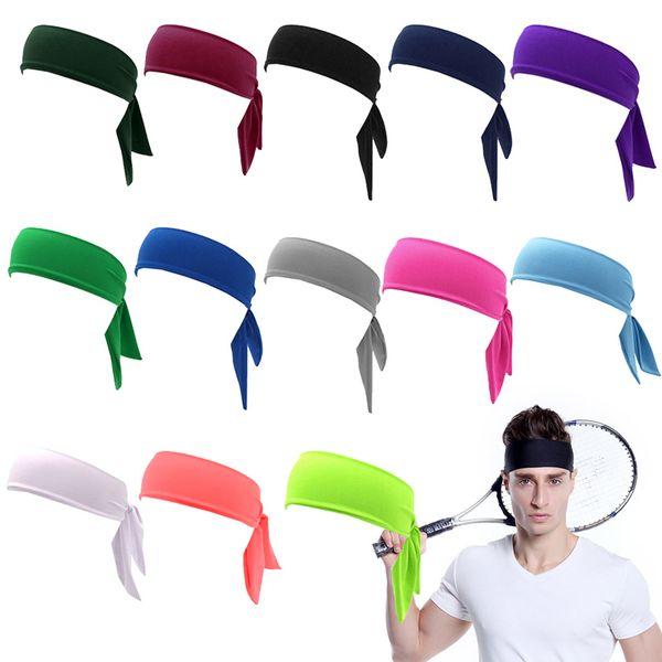 Head Tie Back Headband Sports Headband Sweat Band Hair Sweatband for Men Women