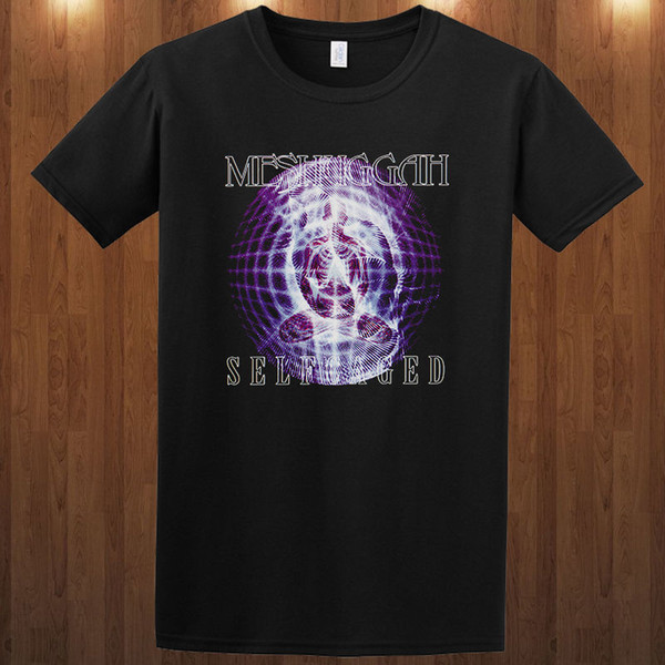 Harajuku Funny Men T-shirt MESHUGGAH Self Caged tee sueco heavy band Jens Kidman S M L XL 2-3XL camiseta