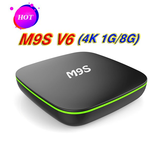 M9S V6 Android7.1 TV Box 1GB 8GB RK3229 Quad core Cortex A7 Support HD HDMI Wifi 4K Smart Internet Boxes Better X96 Mini S905W