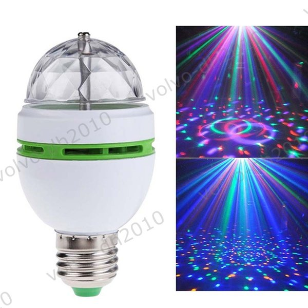 Fashion RGB Lamp Crystal Magic Ball Mini Stage Laser Light Effect Colorful Bulb For KTV Private Party Room DJ Disco LLFA