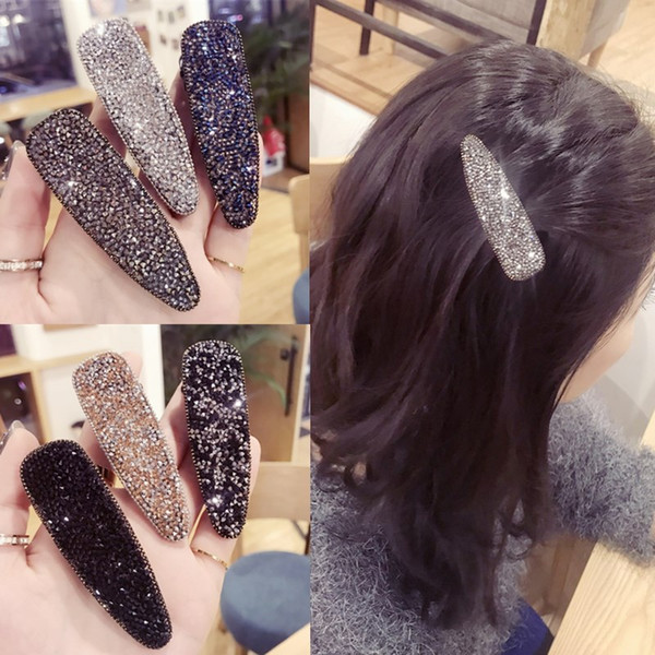 Korea Hair Accessories Flower Diamond Geometric Hair Clips For Girls Crystal Accessories Bows Hairpins Barrette 4