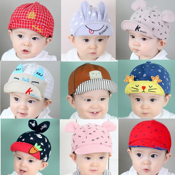 Berretti da baseball del fumetto dei cappelli 3D del bambino Neonati Cappello di Sun del cotone per le ragazze dei ragazzi Cappuccio casuale Primavera Autunno all'aperto caldo 718