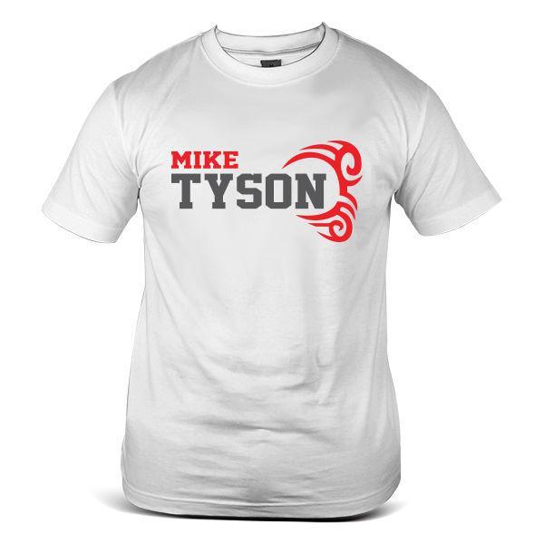 3508-WH Mike Tyson MMA Gym Boxing Celebrity Hispter Fashion White Men T-Shirt