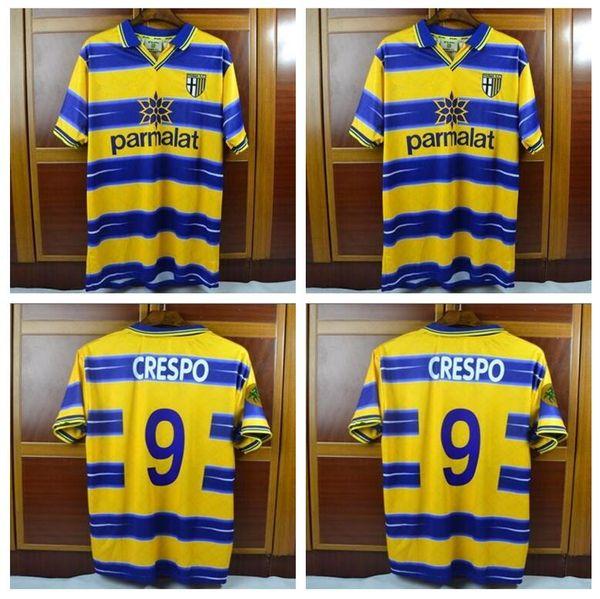 TOP 98 99 Gardien de but de Parme Buffon Crespo Cannavaro Thuram Rétro Jersey 1998