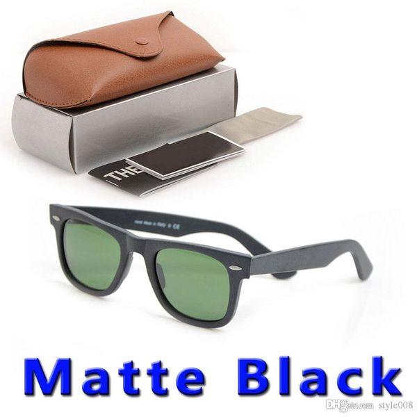 new Matte Black sunglasses mens sun glasses glass Lens Plank sunglasses High Quality 2140 womens glasses 100% UV protection Sun glasses boxs