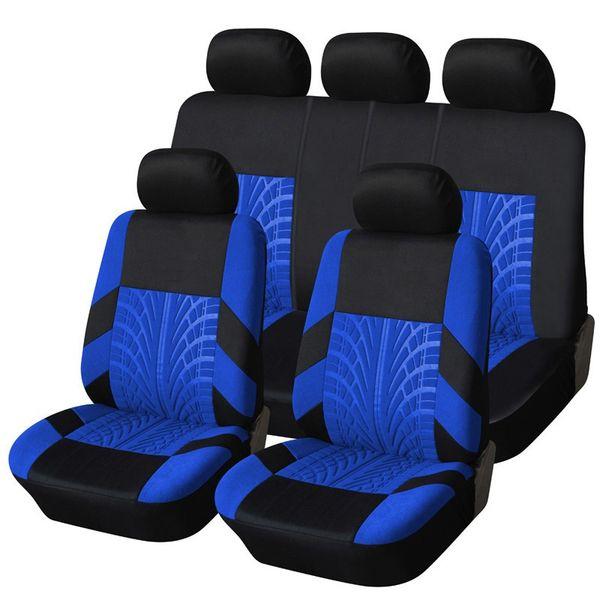 Гоночный автомобиль чехлы на сиденья шины трек универсальный Fit передние задние сиденья крышка аксессуары для интерьера синий красный серый новый для kia ВАЗ