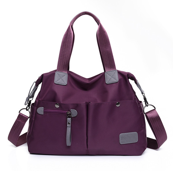 Casual waterproof cloth bag, portable large capacity bag, lady hand shoulder carry Oxford bag
