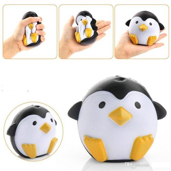 Nueva Llegada Jumbo Squishy Penguin Kawaii Animal Lindo Levantamiento Lento Dulce Perfumada Charms Pan Pastel Kid Juguete Muñeca Regalo Divertido to346